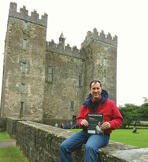 Louis Kreppert, ACG, ALB, from Aurora, Illinois, visits ­Bunratty Castle in County Clare, Ireland.