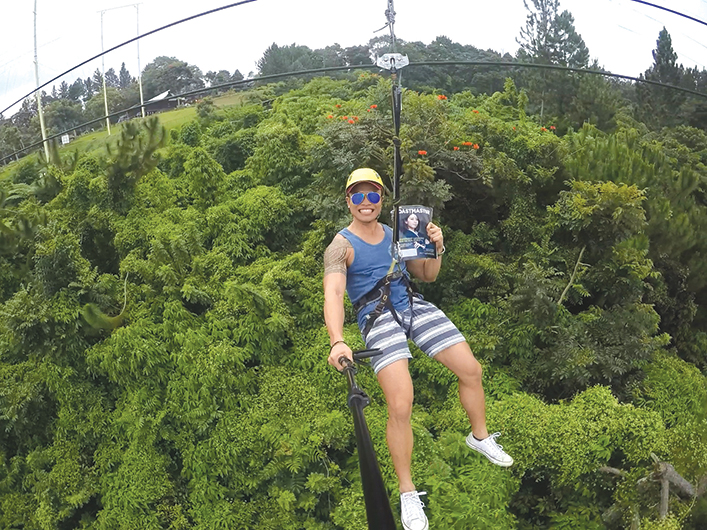Jovito E. Magoncia, CC, ALB, from Taguig City, Metro Manila, Philippines, goes on a zipline adventure with his magazine at Eden Nature Park in Davao City, Philippines.