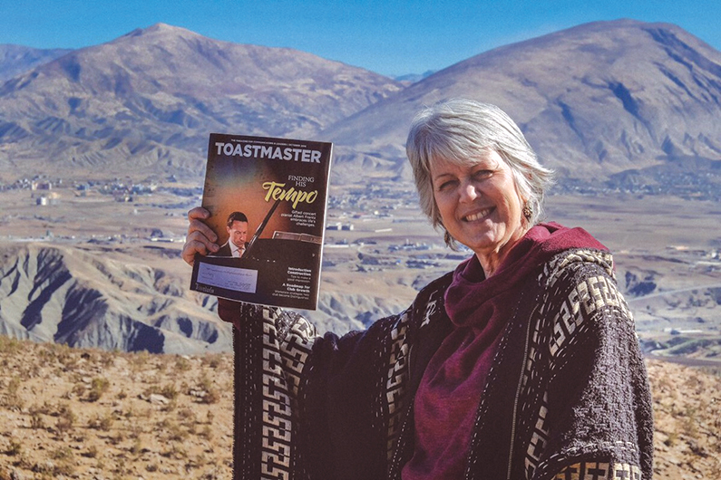 Julie Arnold, ACB, ALB, from Marietta, Georgia, viewed mountain peaks in Iran and Turkey while in the Soran Valley in Kurdistan, Iraq.