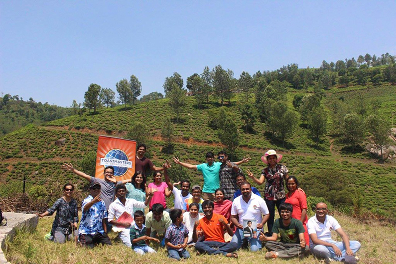 Members of Coimbatore Toastmasters club along with their family members conducted an outdoor meeting in Coonoor, a hill station near Coimbatore Tamil Nadu, where they had a great fun, learning and bonding.