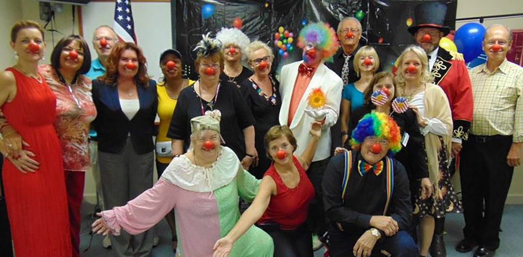Members of the Hobe Sound Toasters club in Hobe Sound, Florida, donned their most eccentric outfits—complete with clown noses and rainbow wigs—for their recent themed meeting, The Circus Comes to Town.
