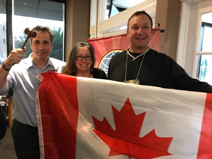Members of the Early Risers Toastmasters club in Saskatoon, Saskatchewan, attended a town hall meeting with 23  other Saskatchewan Toastmasters clubs in honor of Canada's 150th birthday.