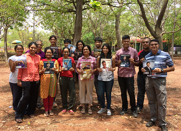 Members of the Sunshine Toastmasters club in Bangalore, India, held an outdoor meeting at the University of Agricultural Sciences.