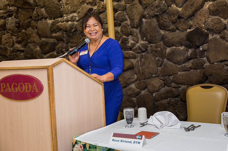 District 49 Director Rose Kirland speaks about Pathways to fellow members in Hawaii.