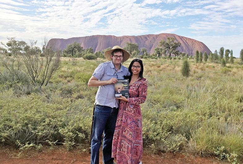 Matthew Yearbury, ACS, CL, and Nina Yearbury, ACG, ALB, from Queensland, Australia, visit Uluru (Ayers Rock) in Central Australia.