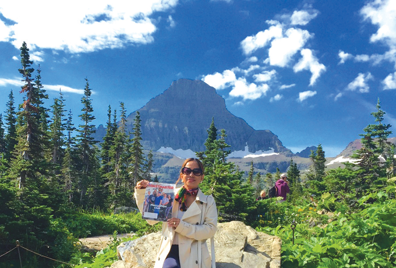 Grace Moran, from Doha, Qatar, visits Logan Pass at ­Glacier National Park in ­Montana, United States.