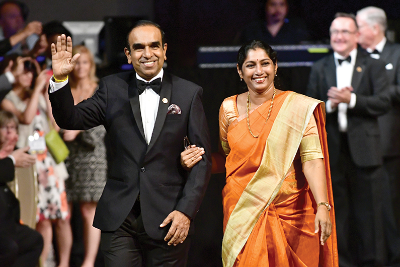Balraj and his wife, Saru, at the 2016 Toastmasters International Convention in Washington, D.C.