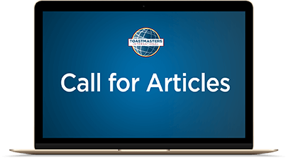 Toastmasters call for articles