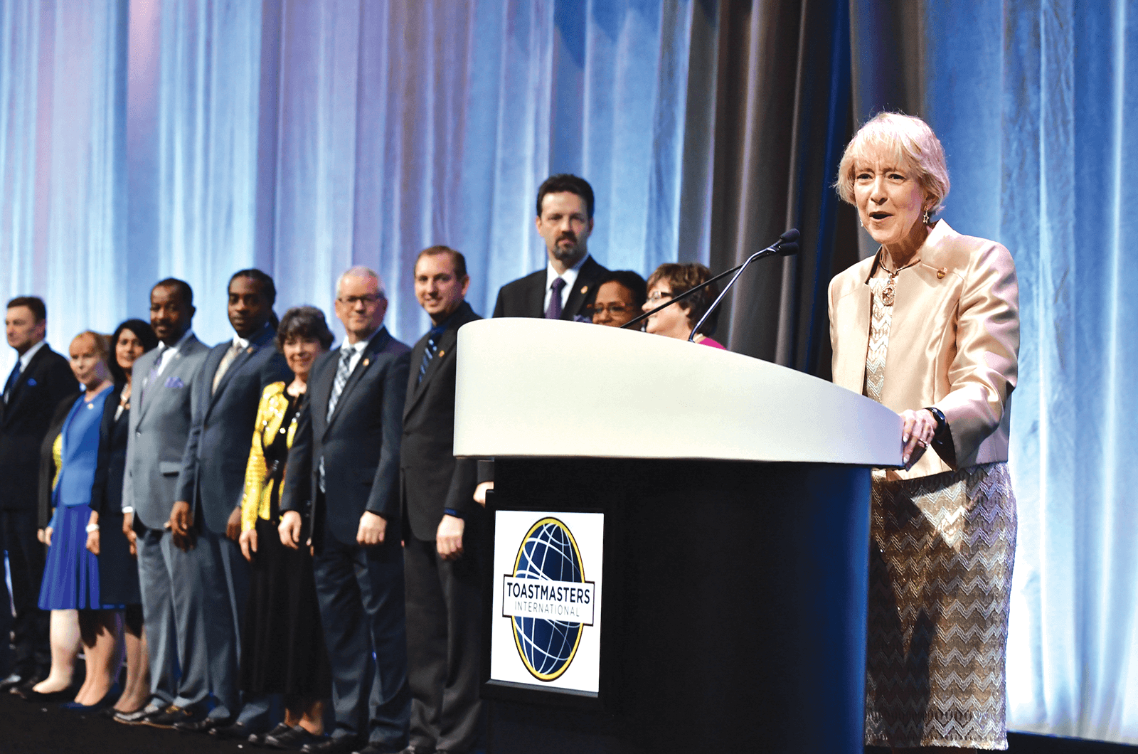 International President Lark Doley at the Annual ­Business Meeting.