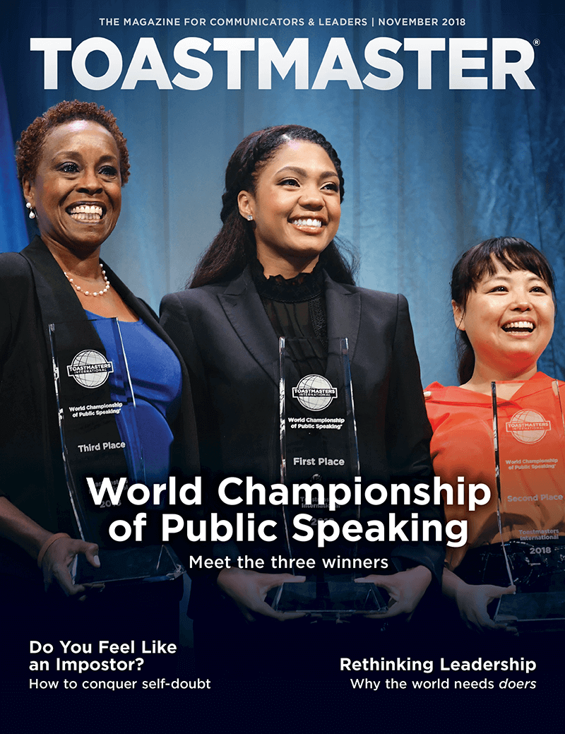 Toastmaster November 2018 Cover