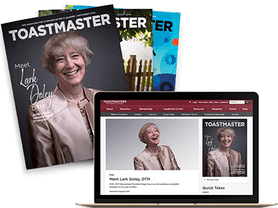 Toastmasters Magazine Subscription Announcement
