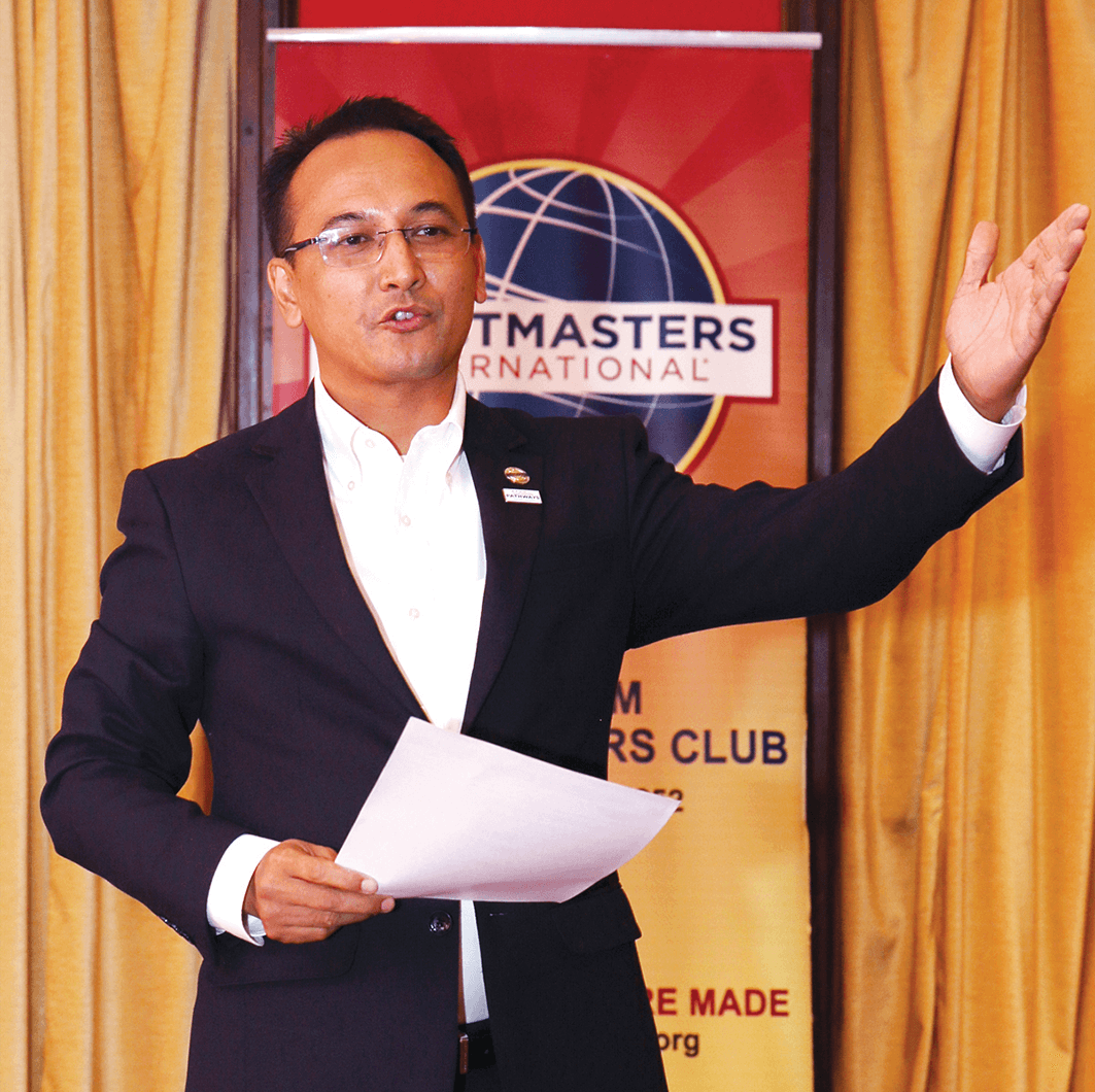 Tourism Toastmasters club president, Pankaj Pradhananga. Photo by Dinesh Shrestha