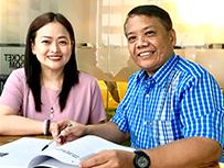 Lespar Aquino and Anne Macalintal