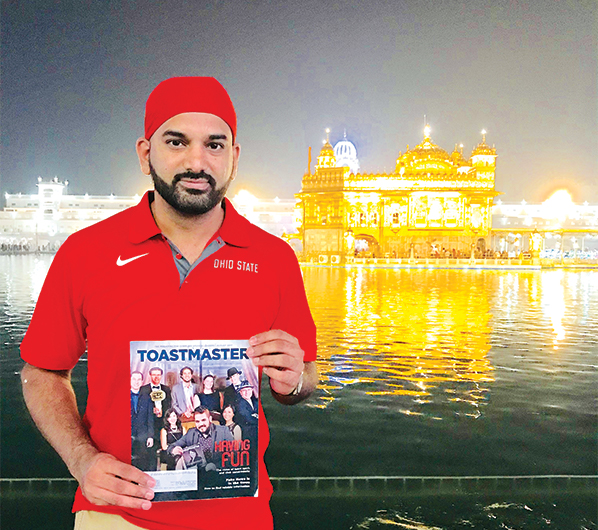 Manu Adhen, ACB, ALB, from Macedonia, Ohio, visits the Golden Temple in the city of Amristar, Punjab, India.