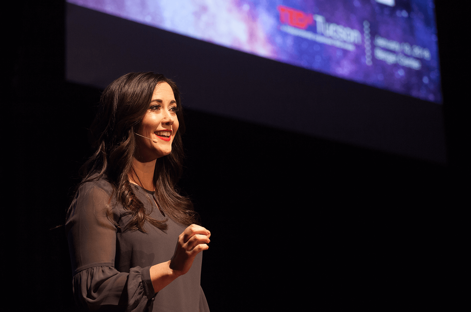 "Professional organizer Star Hansen tells her audience at her January 2018 TEDxTuscon talk ""Monsters are real, and the bogeyman? He's in your closet."""