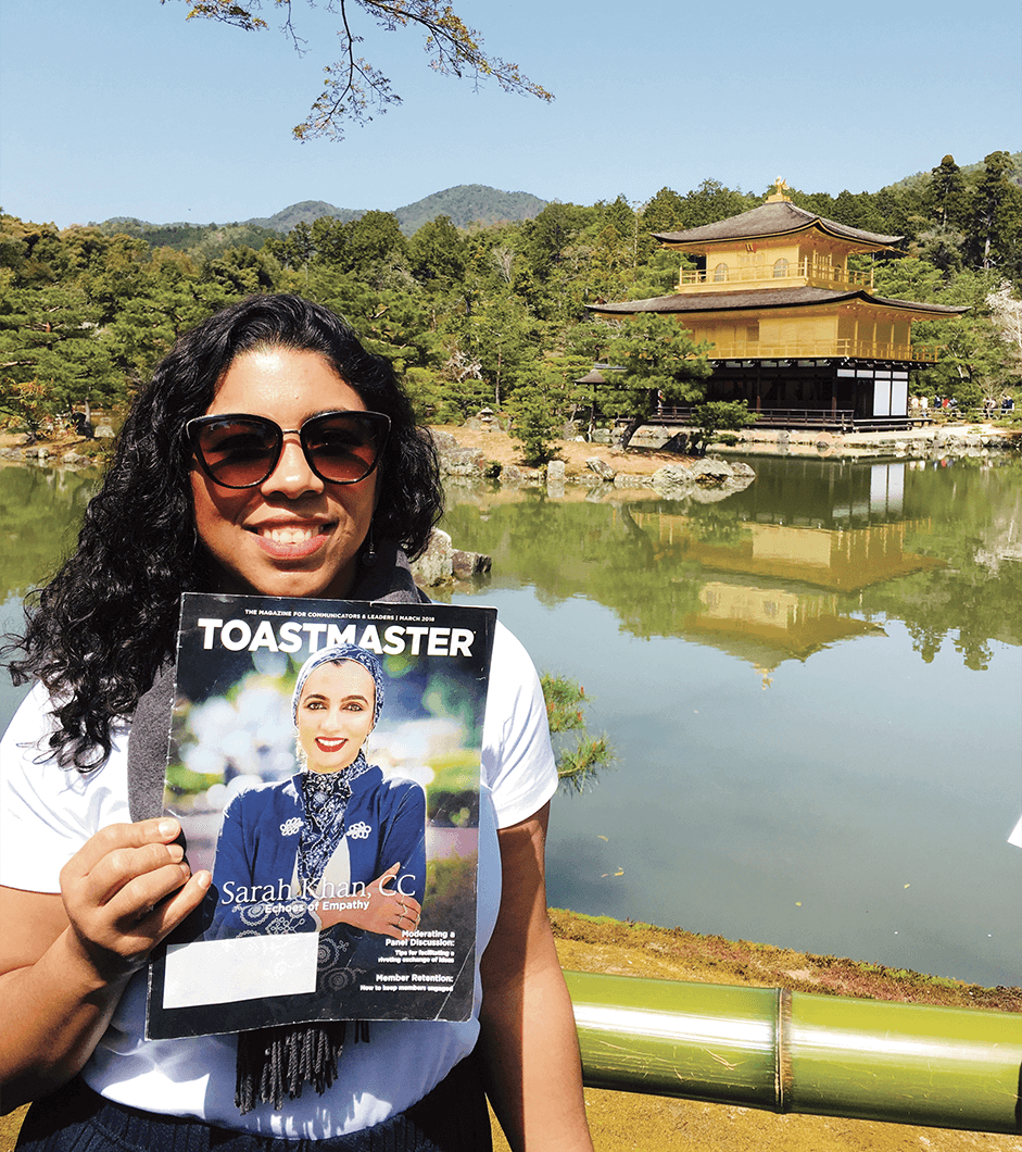 Ana Pope of Islington, London, England, takes in the breathtaking scenery of Kyoto, Japan.