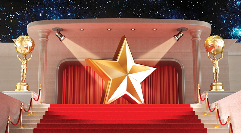 A star on stage