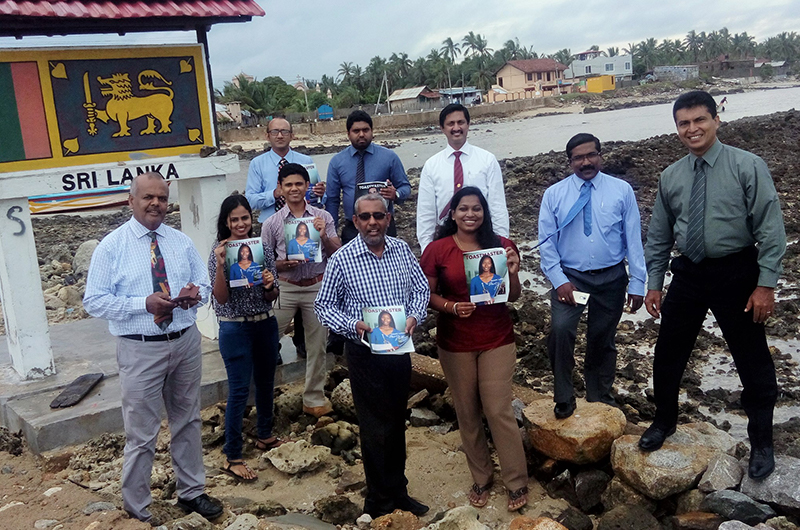 Members in Sri Lanka introduce the organization and bring awareness in the region of Vadamarachchi.