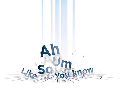 Ah-counting words dropping
