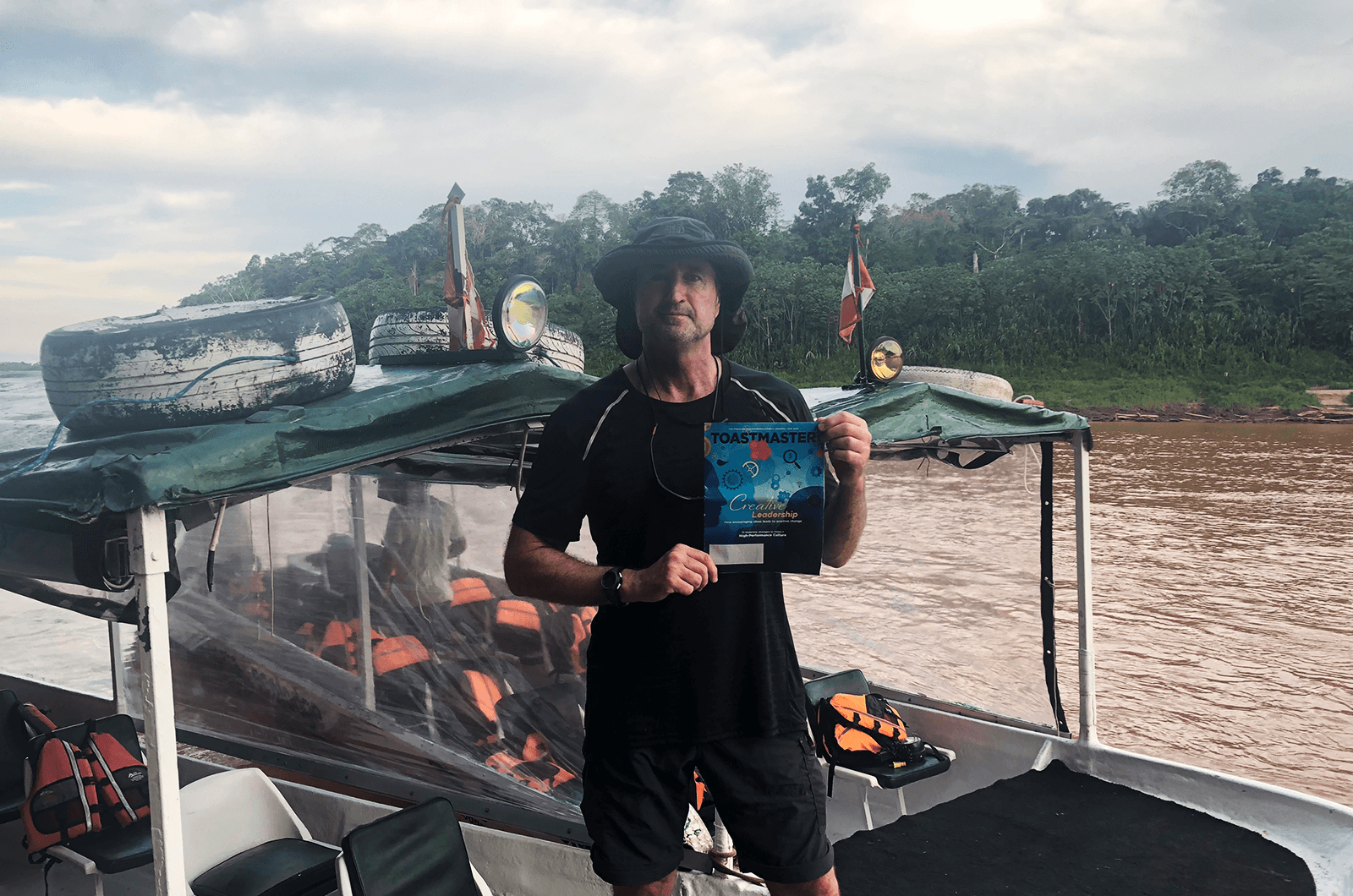 Ray Sweeney, CC, CL, of Marbella, Spain, travels to a remote ecolodge down the Amazon river in the Amazon Rain Forest of Peru.