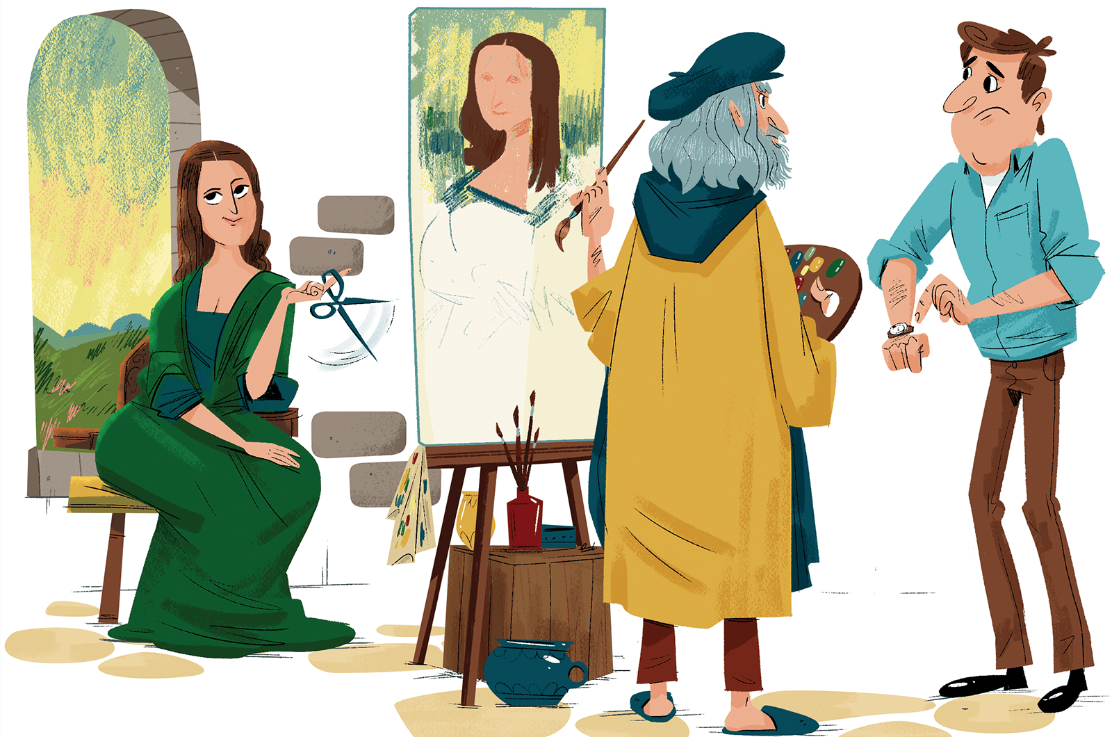 Painter Bart Brown Illustration