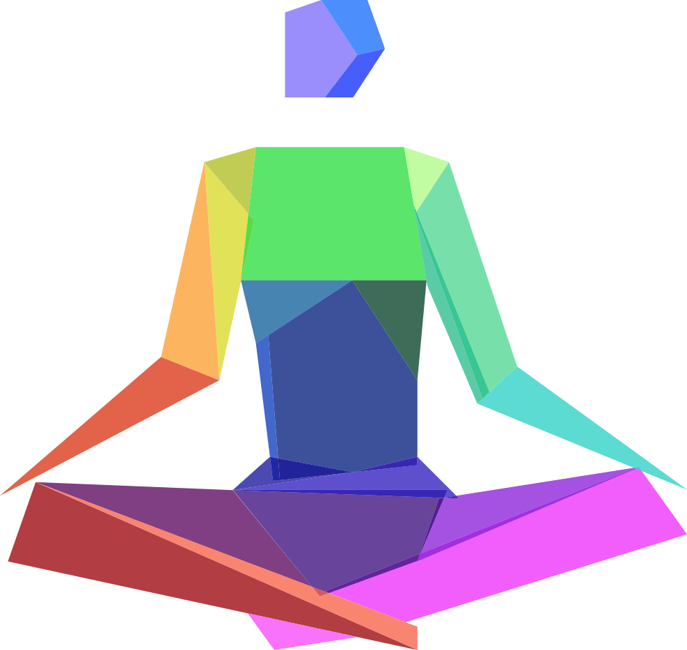 Illustration of a yoga position