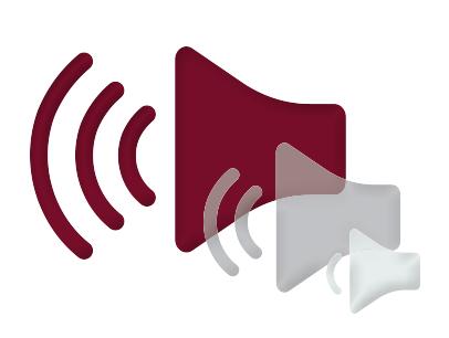 Illustration of a loud speaker