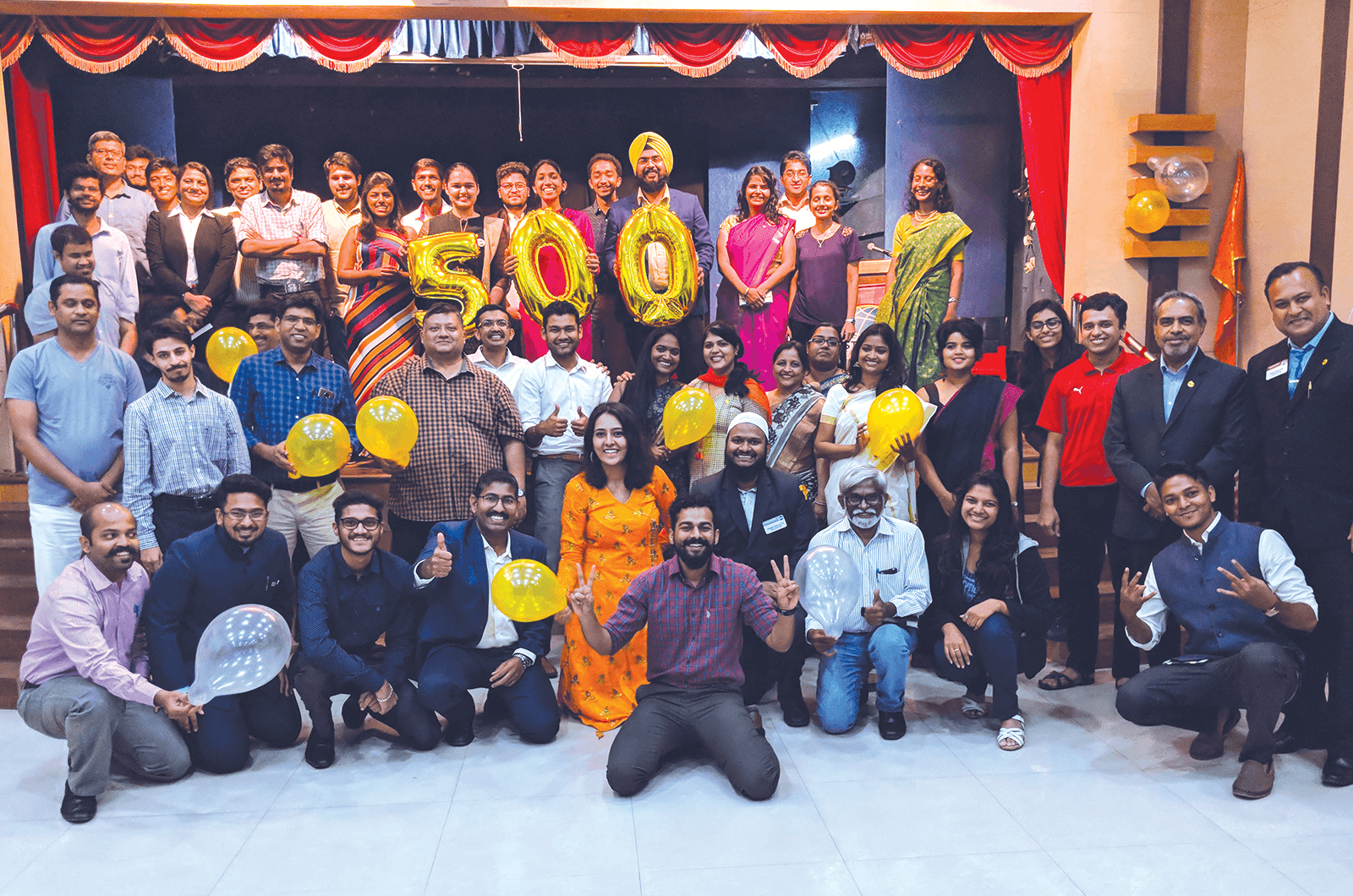Group of Toastmasters members pose in Pune, India