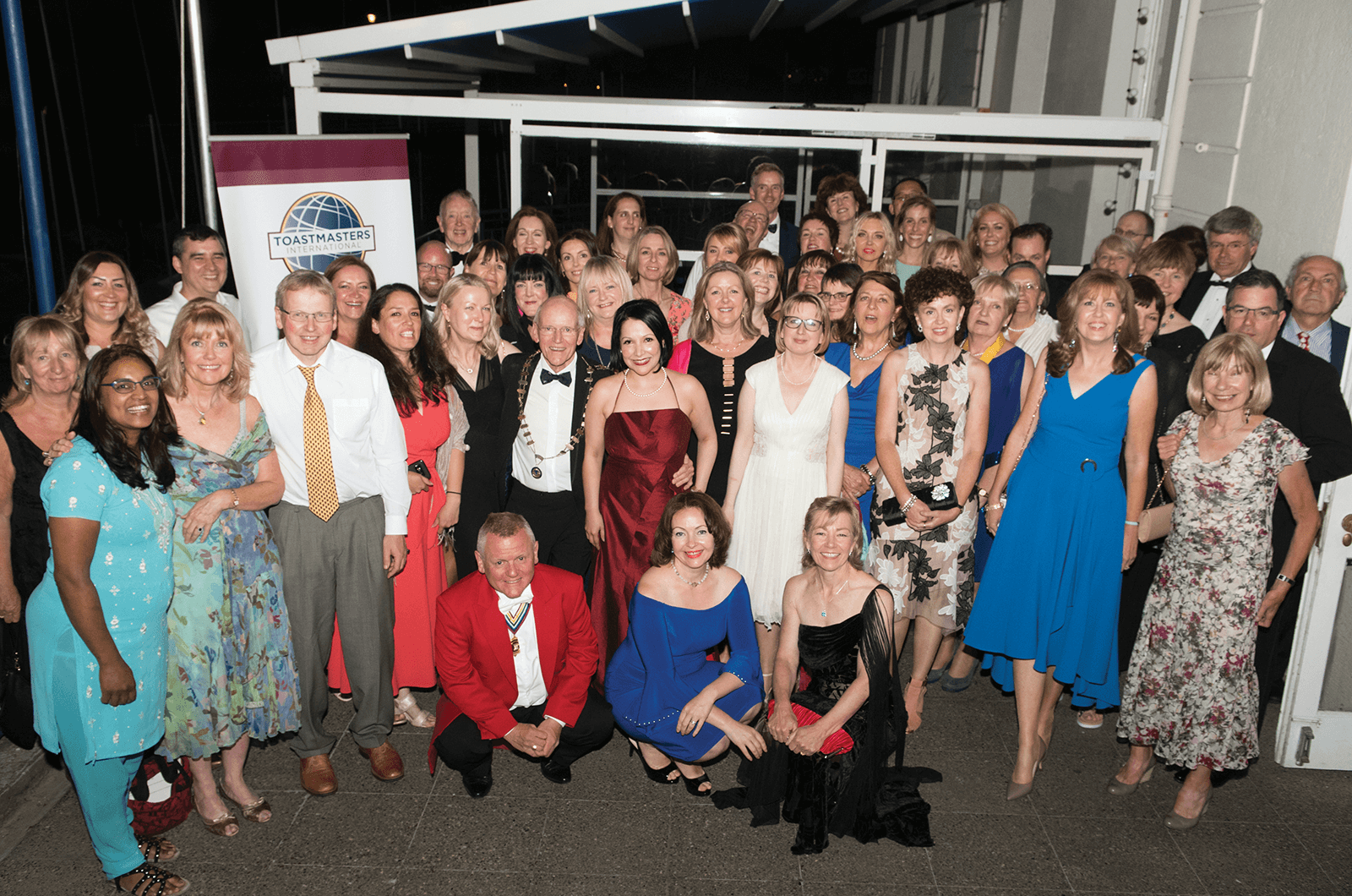 Toastmasters members pose in Dublin, Ireland