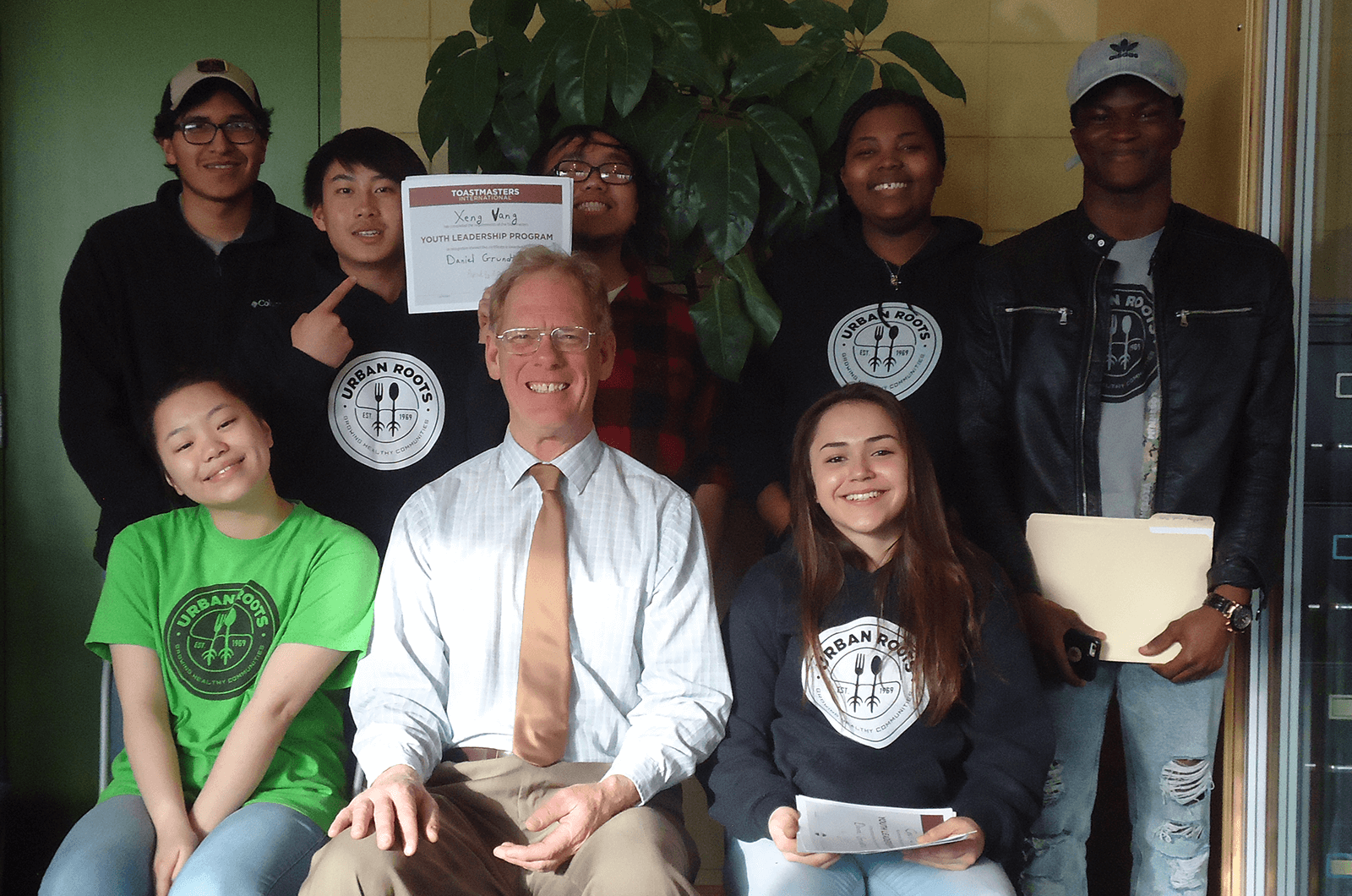 The MRPCV club led a Youth Leadership Program for young interns in Urban Roots, a youth leadership development nonprofit serving East St. Paul, Minnesota, United States.