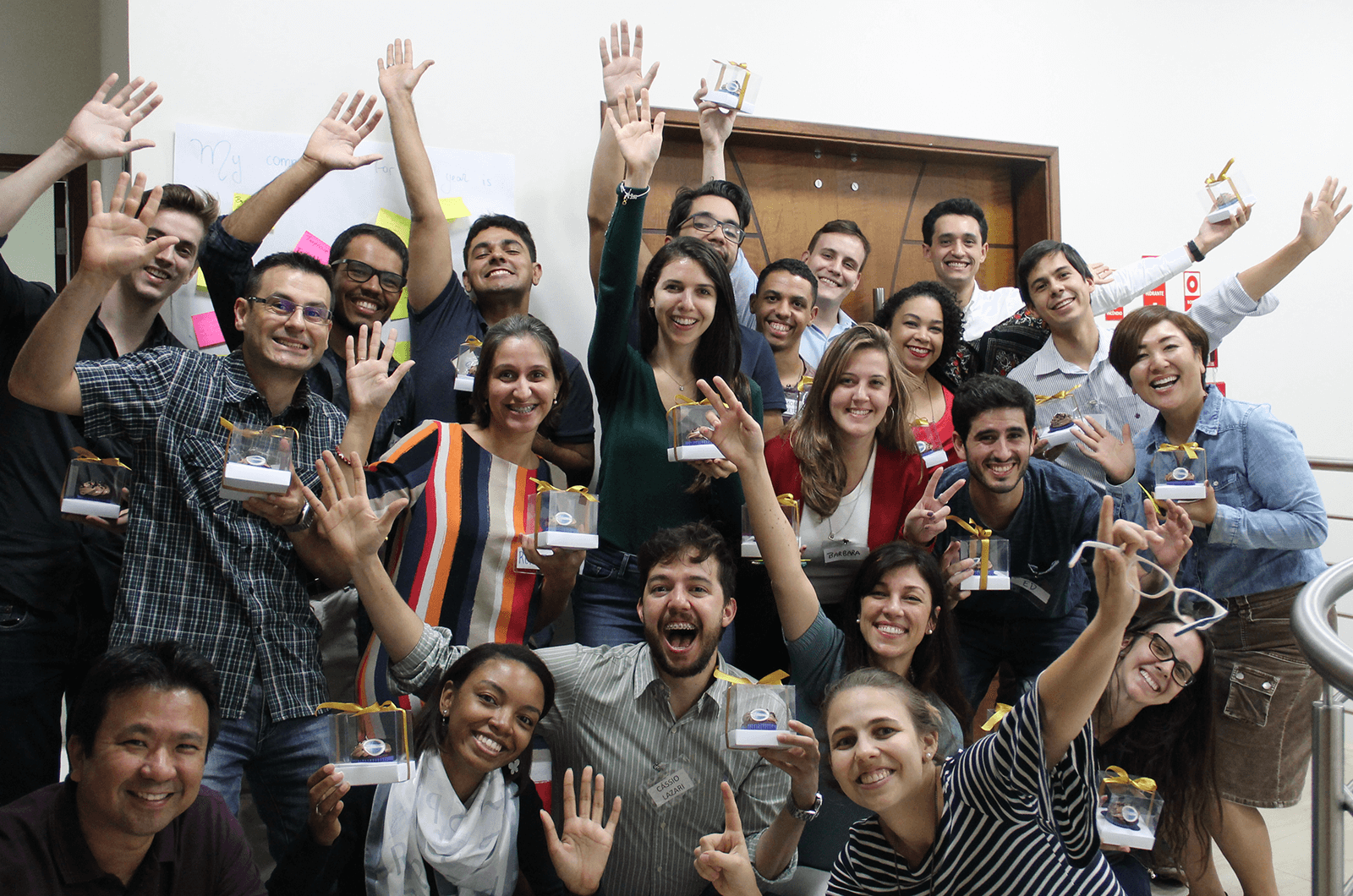 Campinas #1, which shares some Toastmaster roots with the Minnesota Returned Peace Corps Volunteers club, celebrates its first anniversary in Sao Paulo, Brazil.