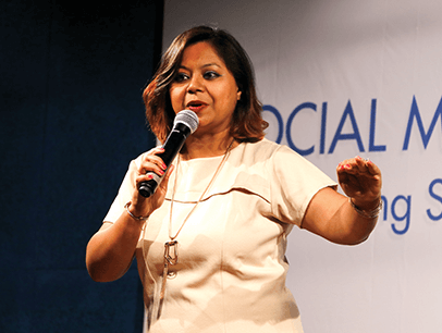 Annesha Dutta speaking