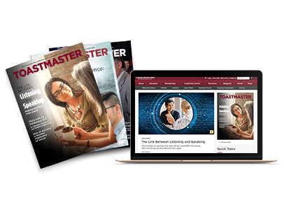 Print and online Toastmaster magazines