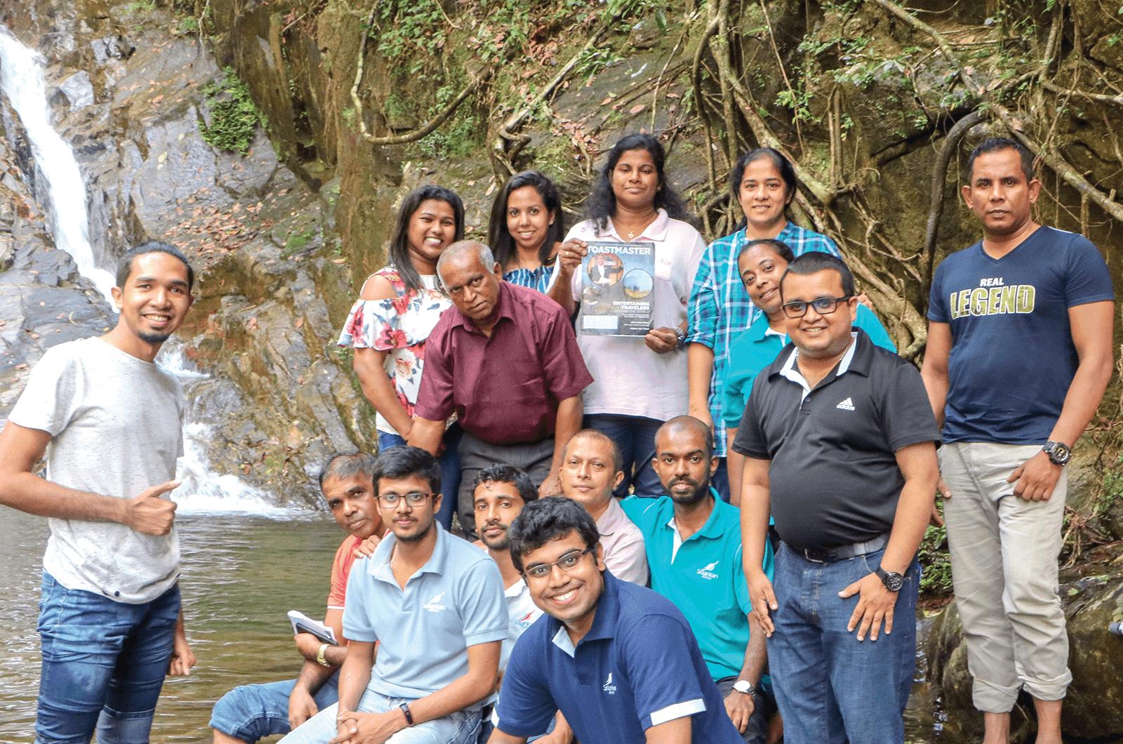 SriLankan Arilines Toastmatsers group photo