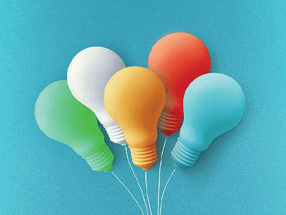 Lightbulb balloons