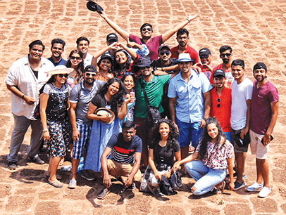 Group of Toastmasters members posing in Goa, India
