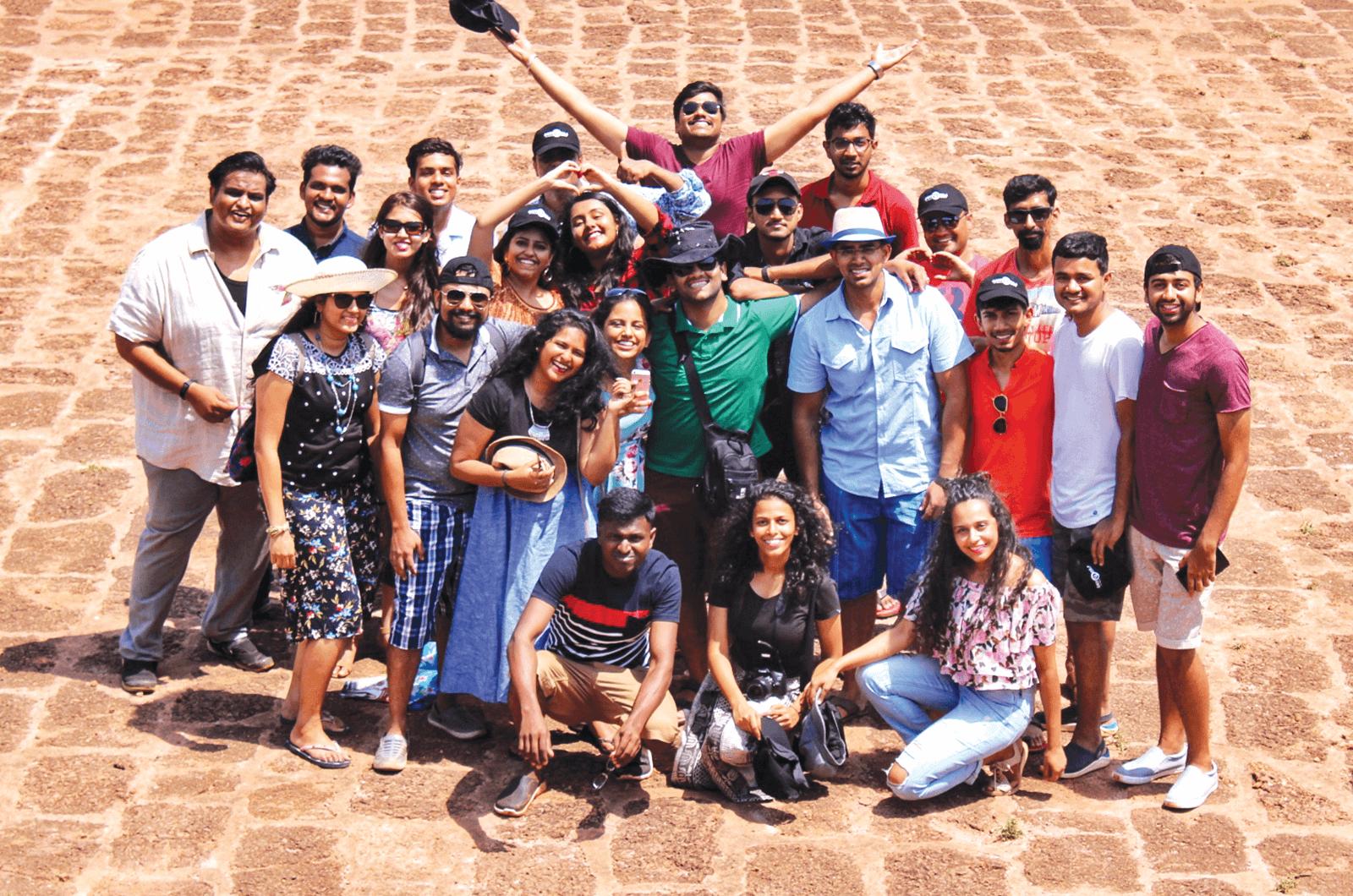 Group of Toastmasters members posing in Goa, India