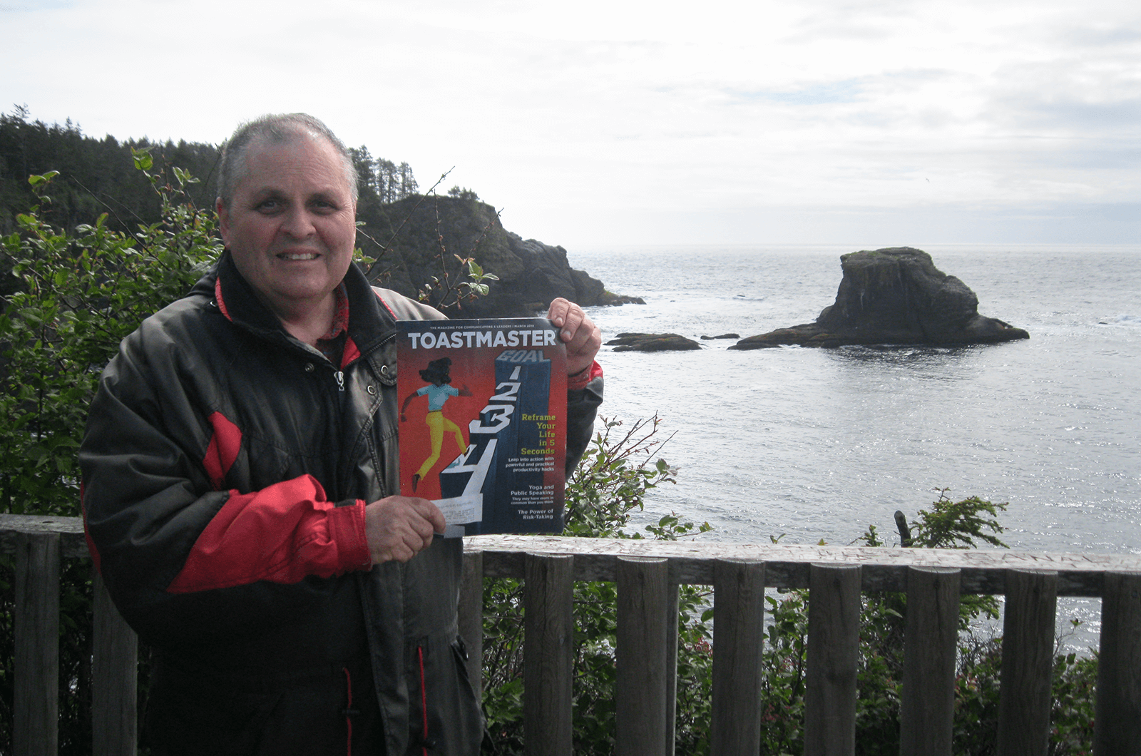 Rick Schwartz of Alexandria, Virginia, visits Cape Flattery in Washington, the northwesternmost point of the contiguous United States.