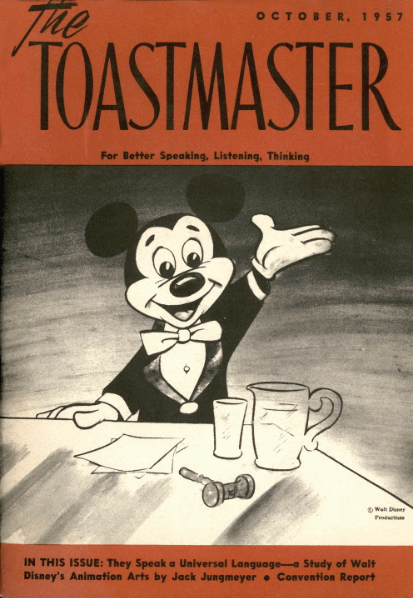 Mickey Mouse was specially drawn by the Disney Studios for the October 1957 cover.