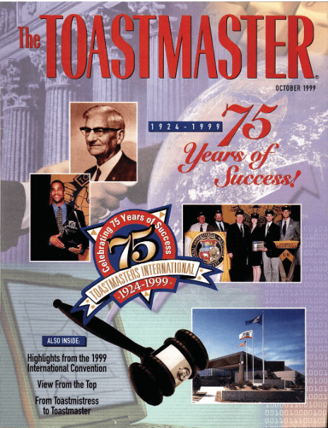 The October 1999 issue celebrated the organization's 75th anniversary.
