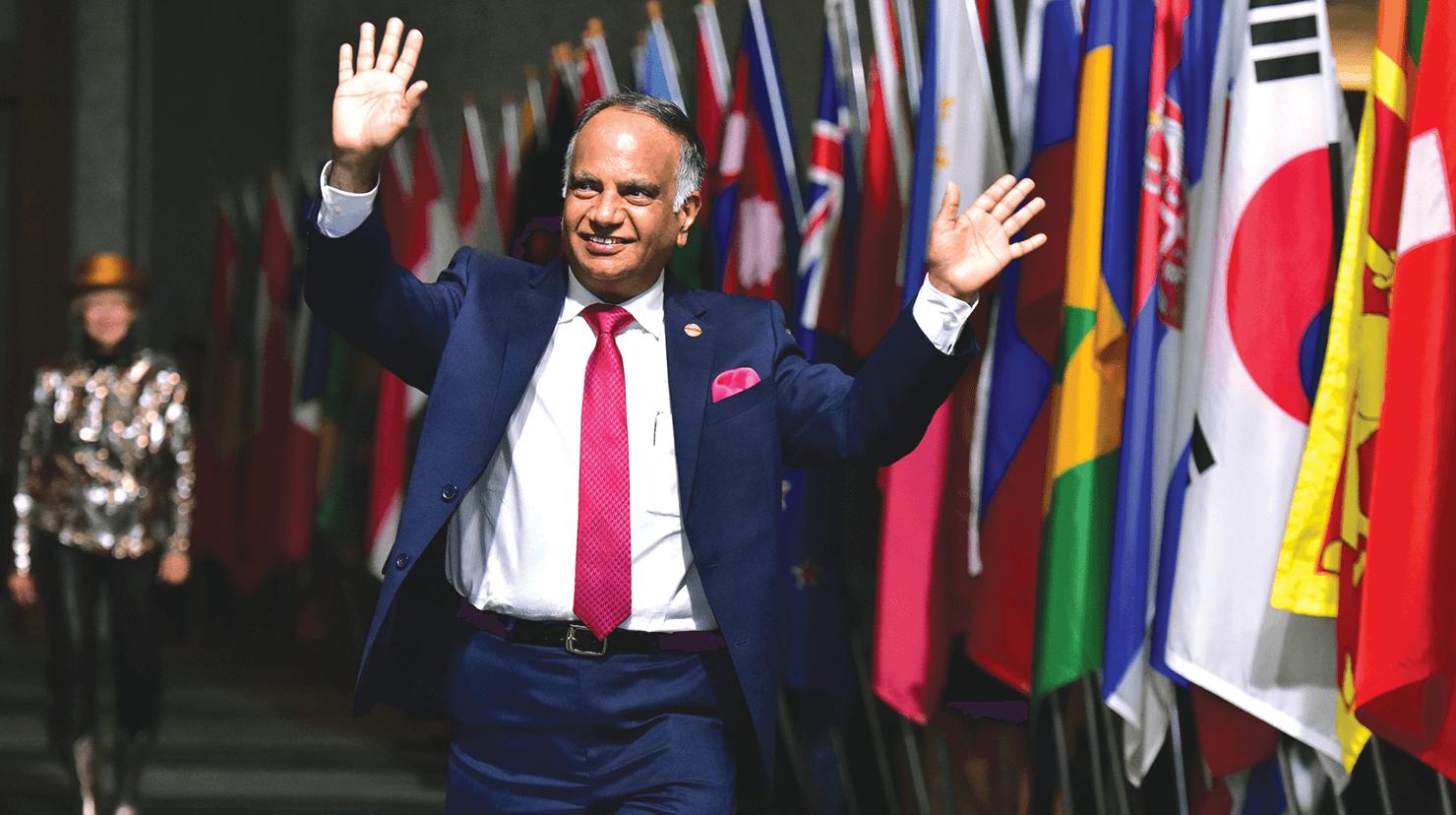 Deepak Menon is Toastmasters' 2019-2020 International President.
