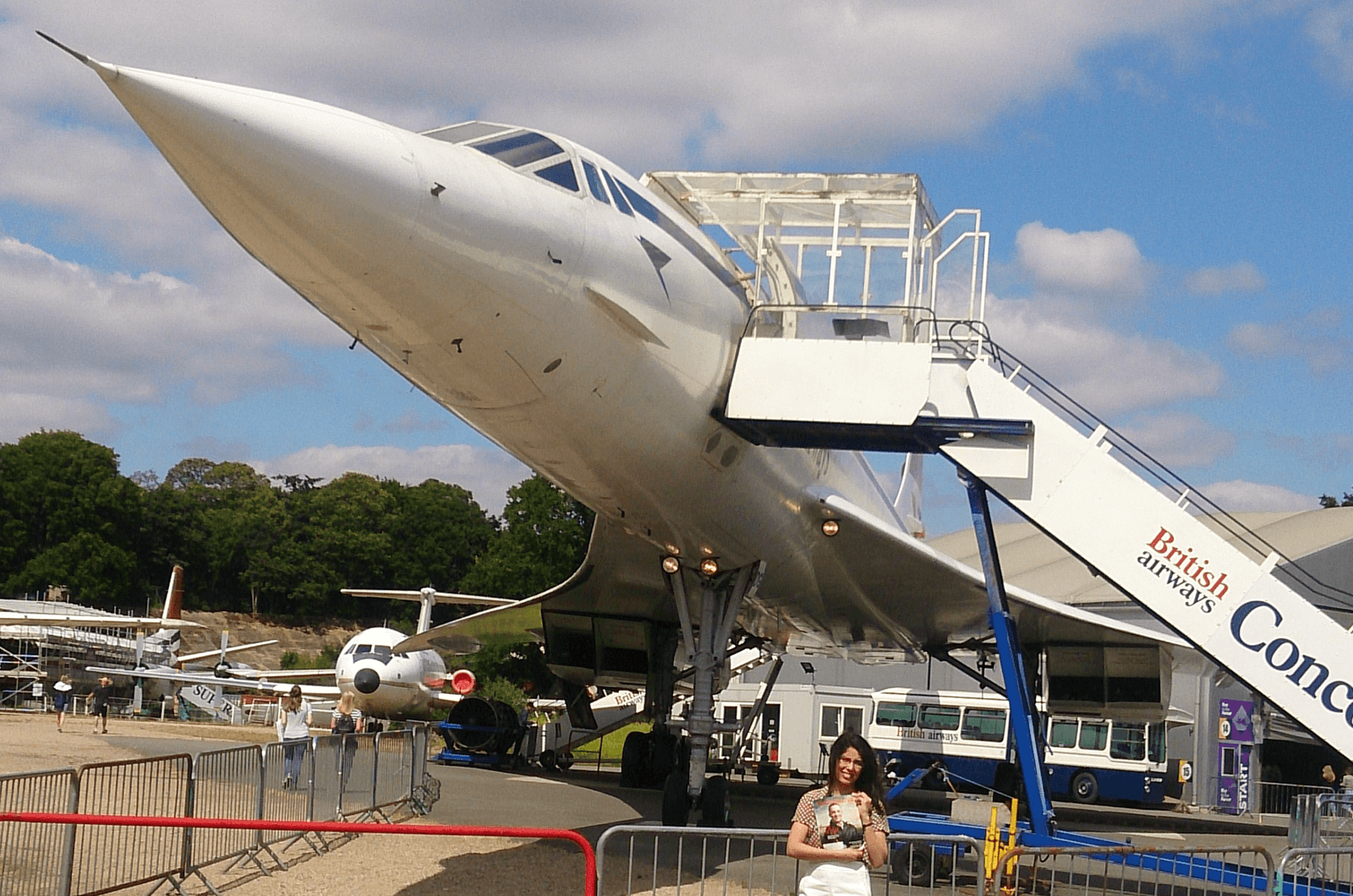 Hadir Alhalali of Clare, Ireland, is an aeronautical engineer, originally from Iraq. She stands in front of the Concorde, one of two commercially operated supersonic passenger airliners that flew from 1976 to 2003. The plane now sits at the Brooklands Museum in Surrey, United Kingdom.