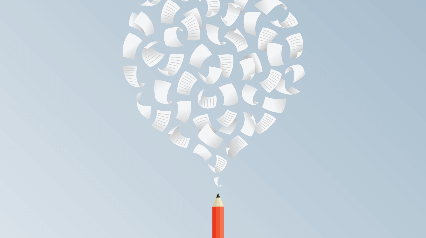 Image of papers and a pencil
