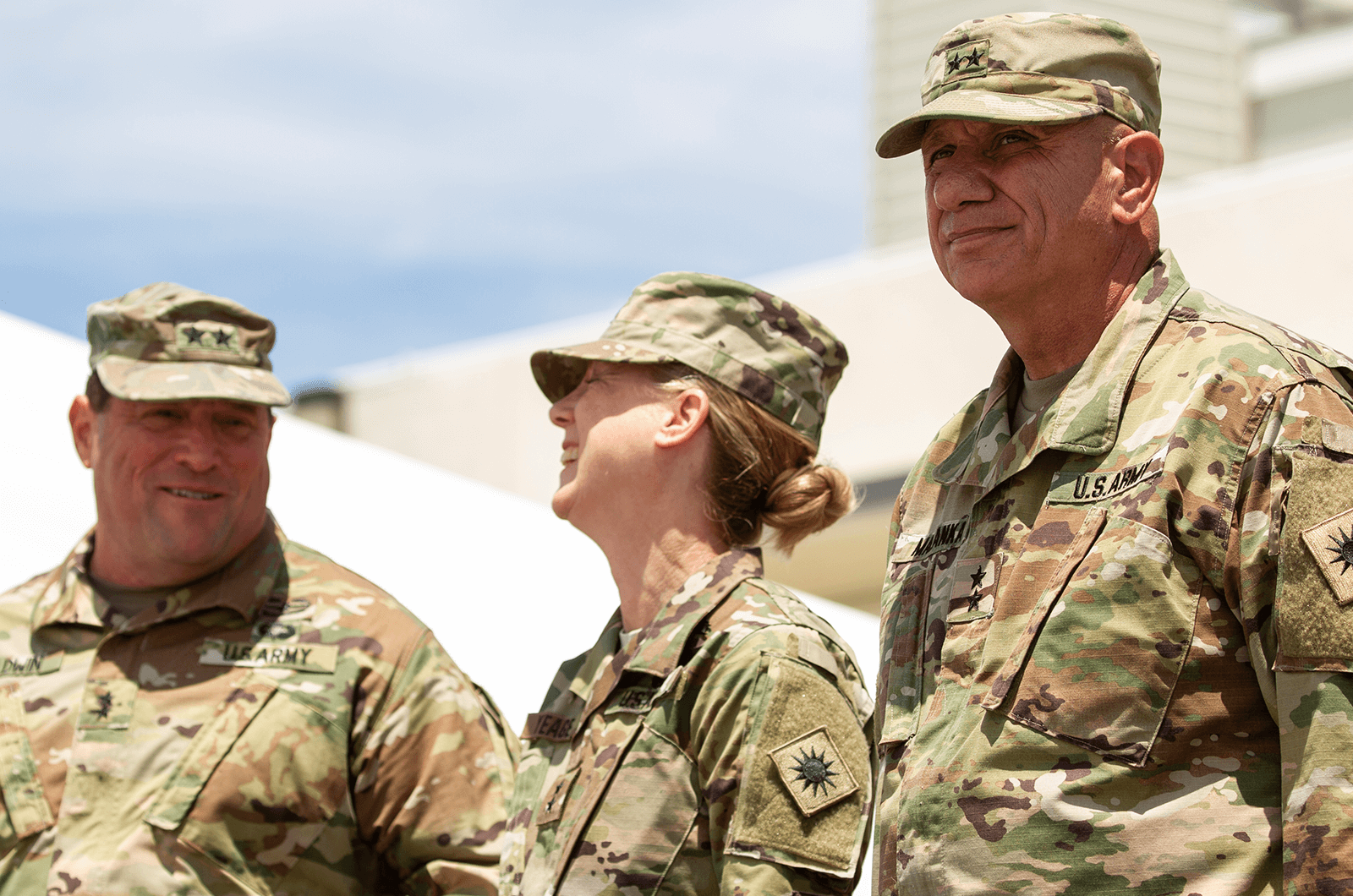 U.S. Army Maj. Gen. Laura Yeager takes command of the California Army National Guard's 40th Infantry Division during a ceremony on June 29, 2019, at Joint Forces Training Base in Los Alamitos, California. Yeager is the first woman to command a U.S. Army infantry division.    *Photos by the California National Guard