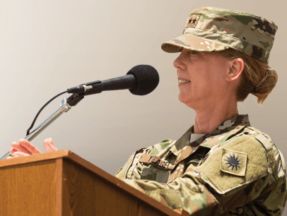 Major General Laura Yeager in Army uniform