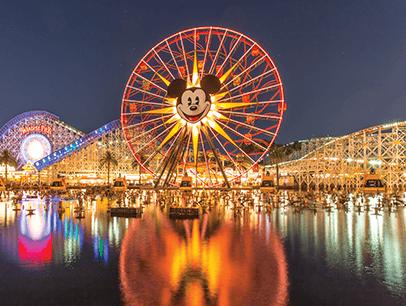 Image of Disneland theme park rides