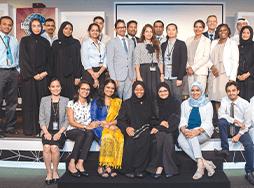 Club members from Abu Dhabi pose