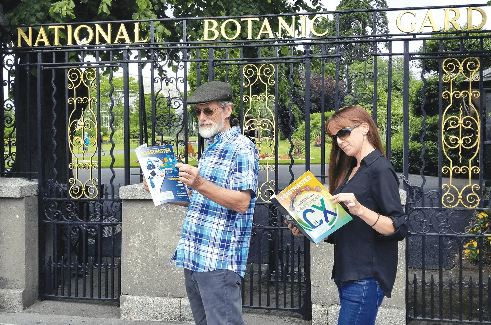 John Mullins and his daughter, Caroline Mullins-Erro, of Modesto, California, visit the National Botanic Gardens in Dublin, Ireland.