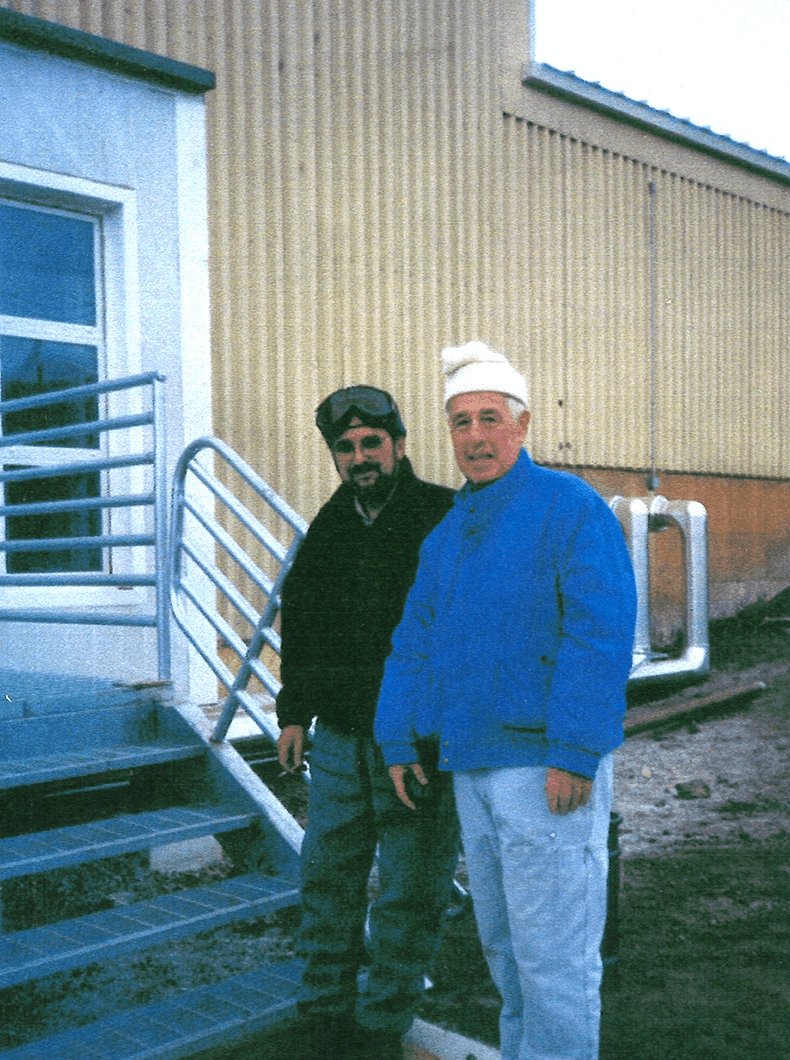 Toastmaster Donnellon (right), noted that the members he worked with at McMurdo station agreed that their experiences at the club directly or indirectly helped in their work in Antarctica.