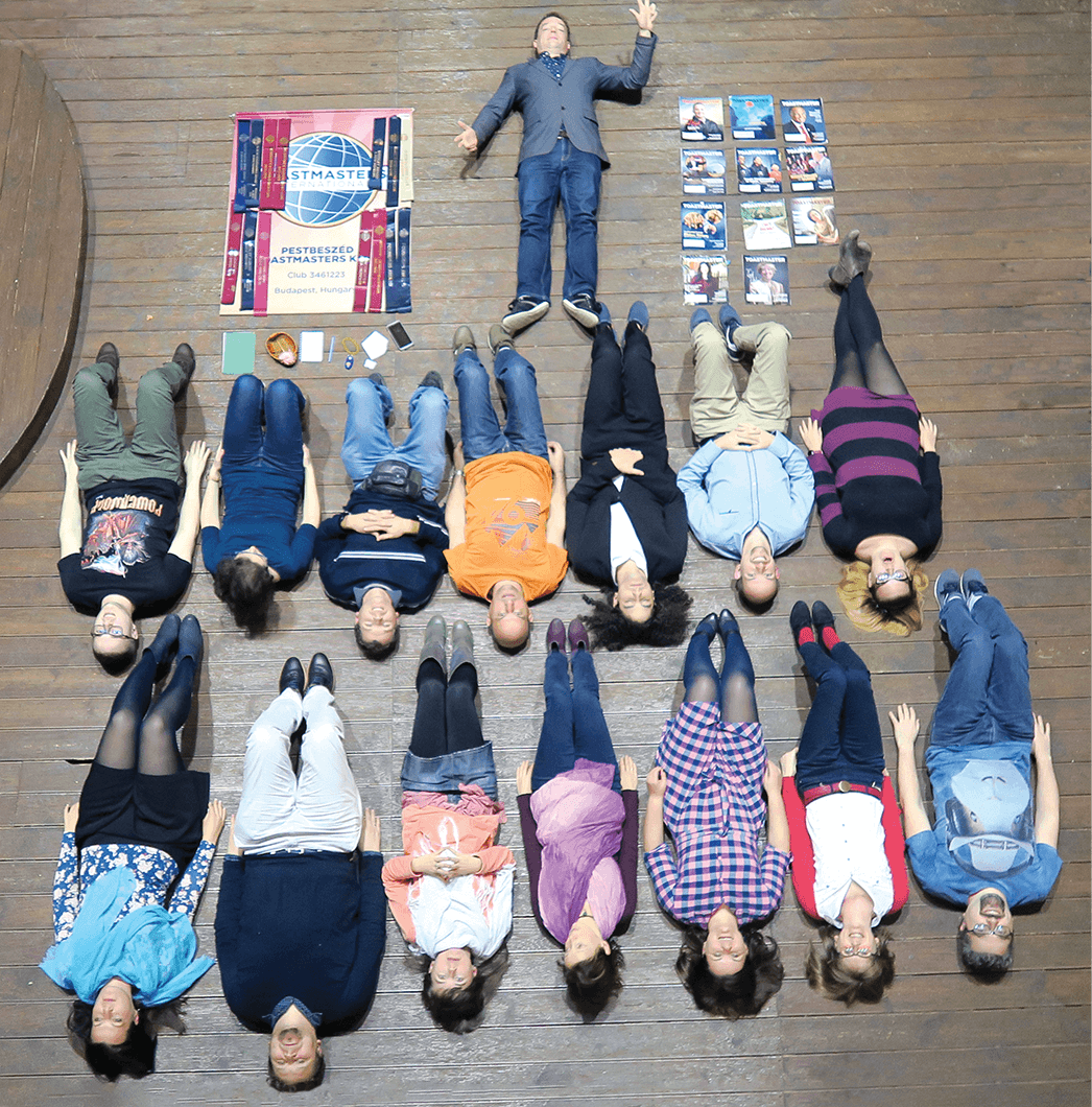 Club members pose for Tetris challenge